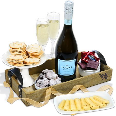 A Toast to Christmas Champagne Gift Basket