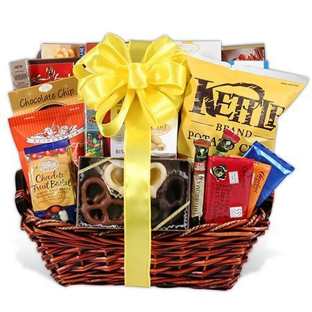 Gourmet Snack & Chocolate Basket Same Day Delivery - Premium