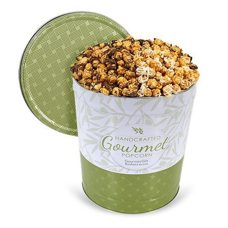 Triple Chocolate Caramel Popcorn Tin - 3.5 Gallon