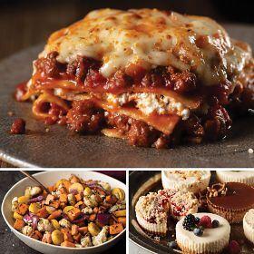 Beef Lasagna & Root Veggies Dinner