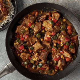 2 (24 oz.) Skillet Meal: Pork with Roasted Peppers
